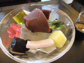 120130京都一条菓寮③、あんみつ.JPG