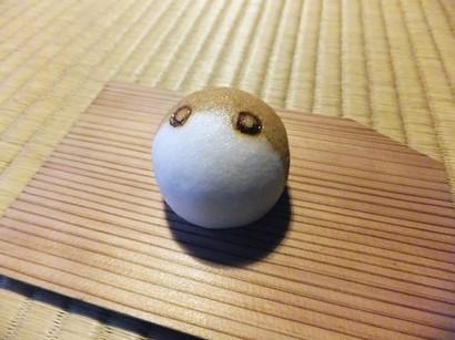 141101弘道館10、「雀」(薯蕷製) (コピー).JPG