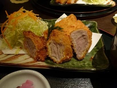 150311矢場とん名鉄店③、ロースとひれの食べ比べ (コピー).JPG