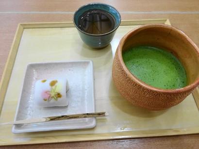 151017両口屋是清栄店②、お抹茶と生菓子 (コピー).JPG