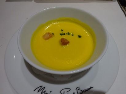 160914ポール・ボキューズ名古屋③、栗かぼちゃの温かいスープ (コピー).JPG